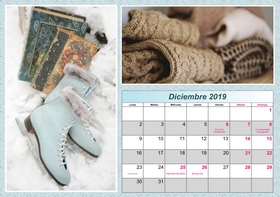 2019 horizontal yearly calendar example 3